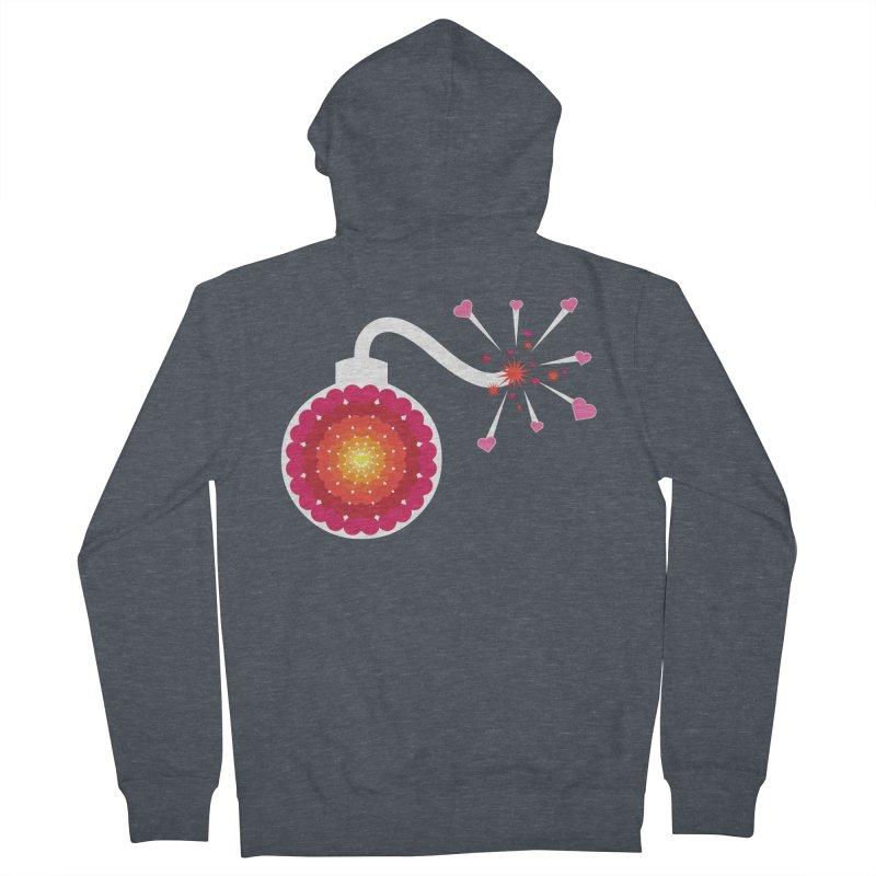 Love Bomb Women's Zip-Up Hoody by Paper Heart Dispatch's Artist Shop