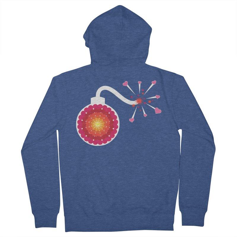 Love Bomb Men's Zip-Up Hoody by Paper Heart Dispatch's Artist Shop