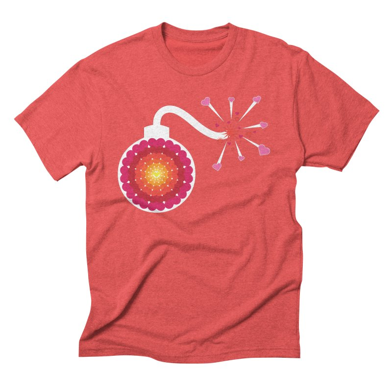 Love Bomb Men's Triblend T-Shirt by Paper Heart Dispatch's Artist Shop