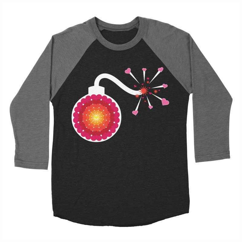 Love Bomb Women's Baseball Triblend T-Shirt by Paper Heart Dispatch's Artist Shop