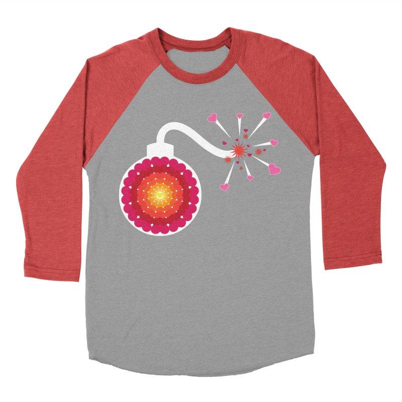 Love Bomb Men's Baseball Triblend T-Shirt by Paper Heart Dispatch's Artist Shop