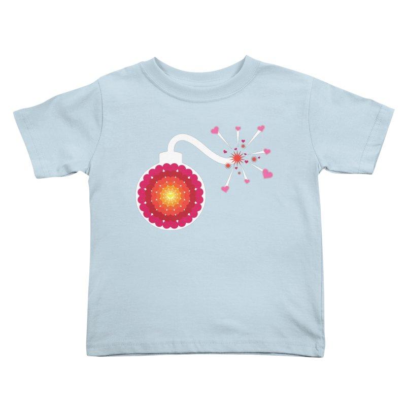 Love Bomb Kids Toddler T-Shirt by Paper Heart Dispatch's Artist Shop