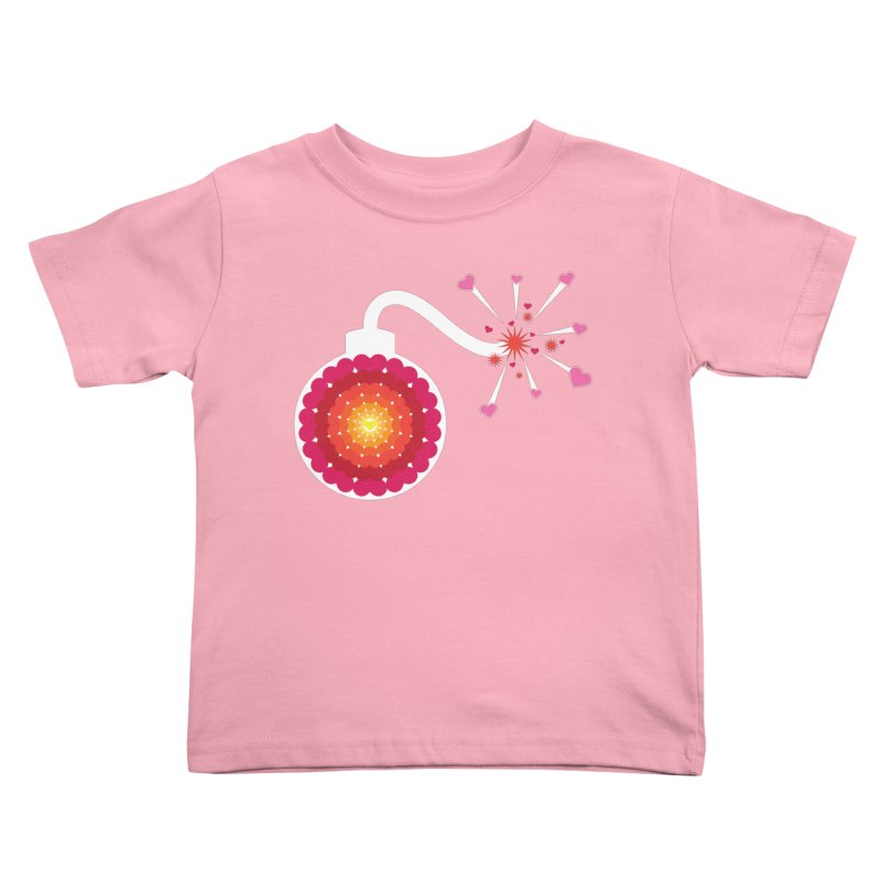 Love Bomb Kids Toddler T-Shirt by Paper Heart Dispatch's Artist Shop