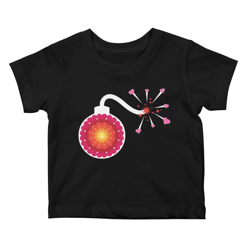 Love Bomb Kids Baby T-Shirt by Paper Heart Dispatch's Artist Shop