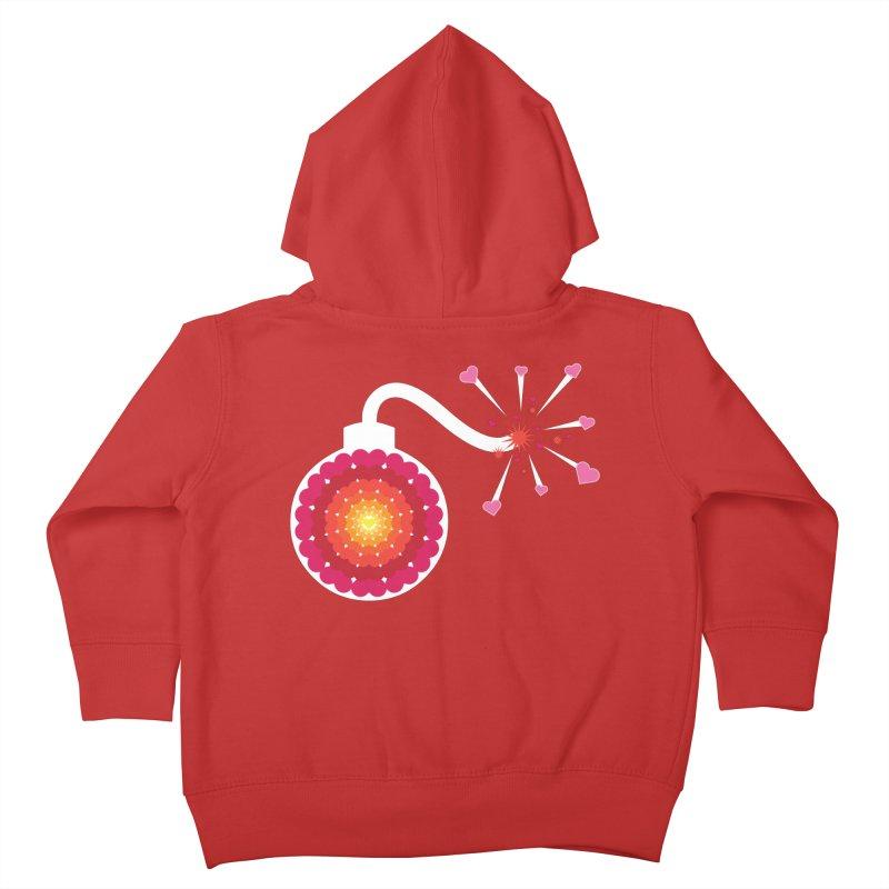 Love Bomb Kids Toddler Zip-Up Hoody by Paper Heart Dispatch's Artist Shop