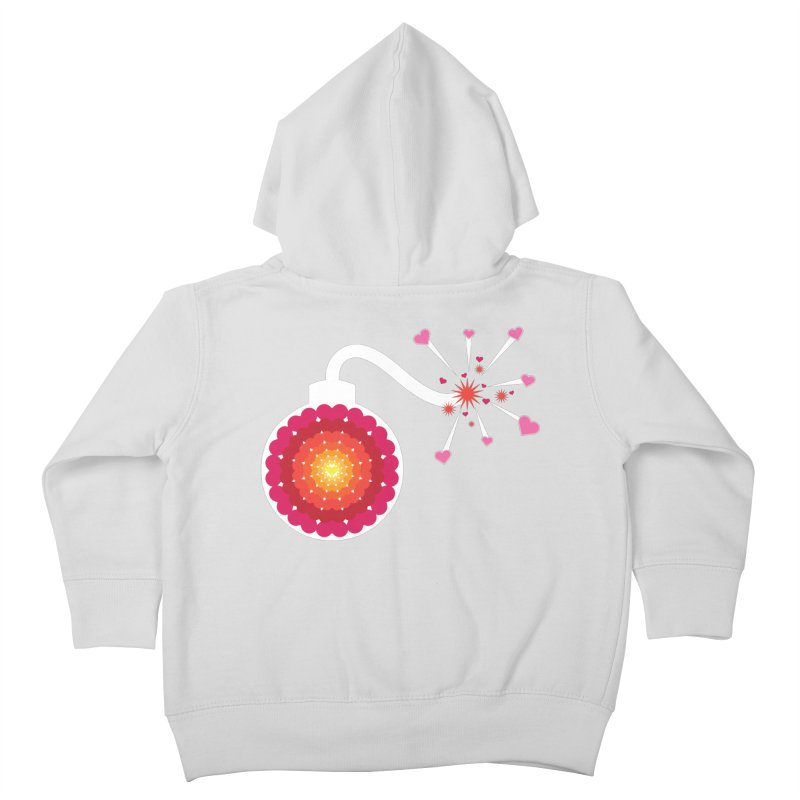 Love Bomb Kids Toddler Zip-Up Hoody by Paper Heart Dispatch's Artist Shop