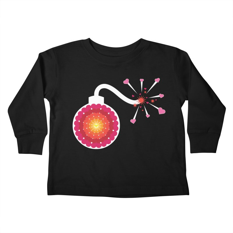 Love Bomb Kids Toddler Longsleeve T-Shirt by Paper Heart Dispatch's Artist Shop