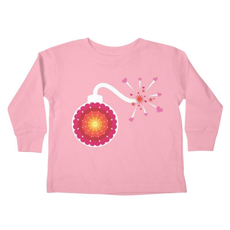 Love Bomb Kids Toddler Longsleeve T-Shirt by Paper Heart Dispatch's Artist Shop