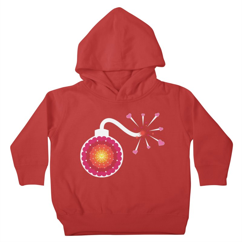 Love Bomb Kids Toddler Pullover Hoody by Paper Heart Dispatch's Artist Shop