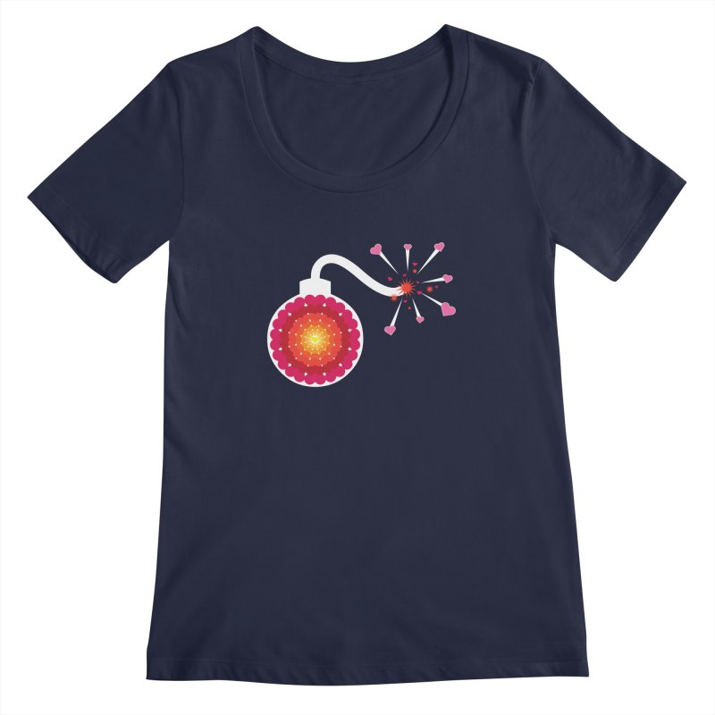 Love Bomb Women's Scoopneck by Paper Heart Dispatch's Artist Shop