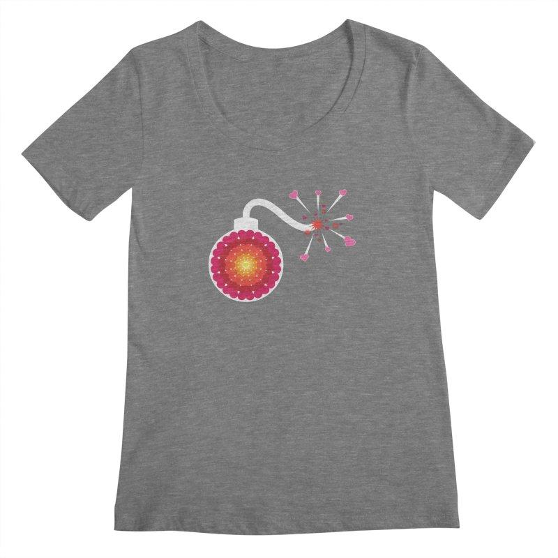 Love Bomb Women's Scoopneck by Paper Heart Dispatch's Artist Shop