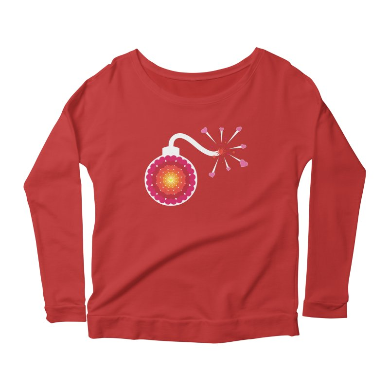 Love Bomb Women's Longsleeve Scoopneck  by Paper Heart Dispatch's Artist Shop