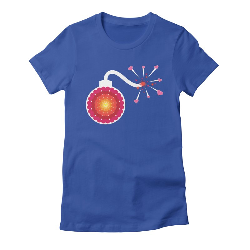 Love Bomb Women's Fitted T-Shirt by Paper Heart Dispatch's Artist Shop