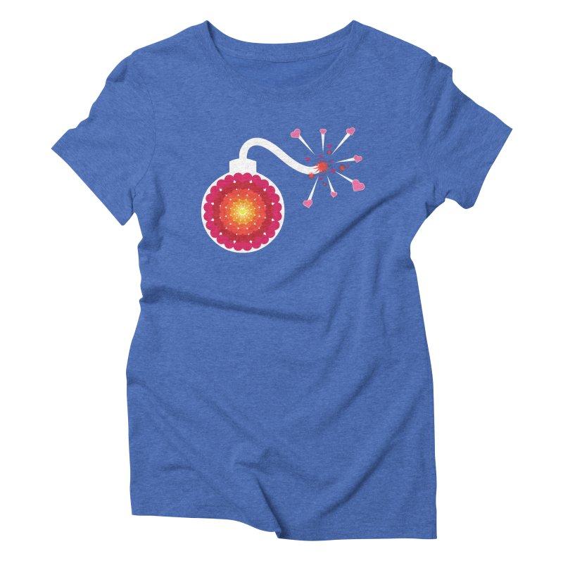 Love Bomb Women's Triblend T-shirt by Paper Heart Dispatch's Artist Shop