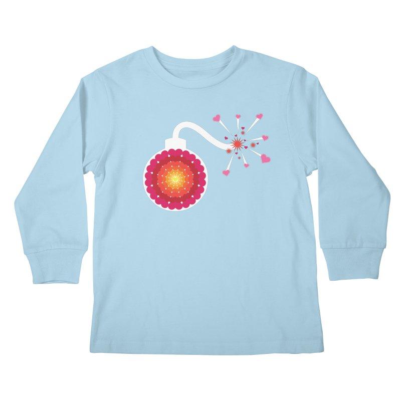 Love Bomb Kids Longsleeve T-Shirt by Paper Heart Dispatch's Artist Shop