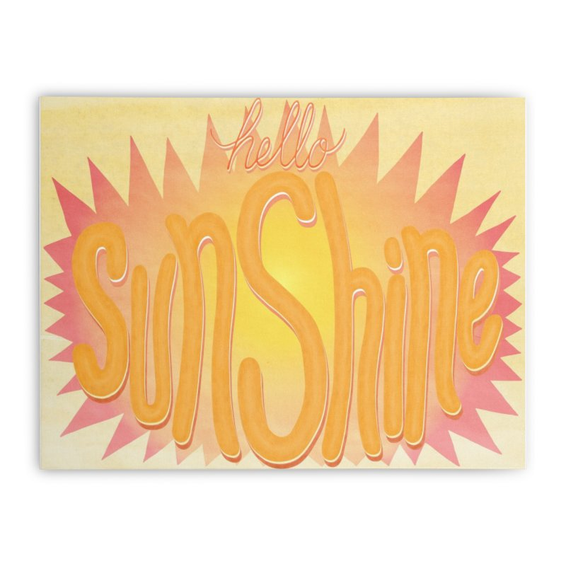 Hello Sunshine Home Stretched Canvas by Paper Heart Dispatch's Artist Shop