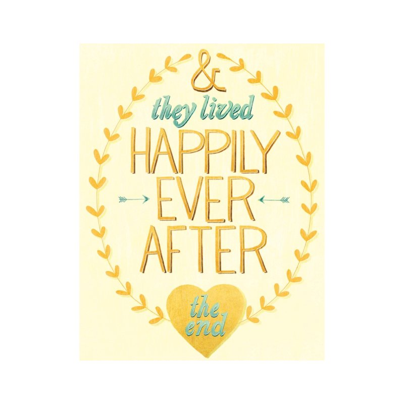 And They Lived Happily Ever After None  by Paper Heart Dispatch's Artist Shop