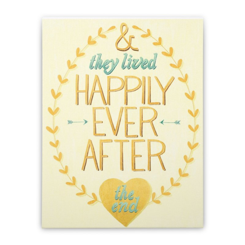 And They Lived Happily Ever After Home Stretched Canvas by Paper Heart Dispatch's Artist Shop