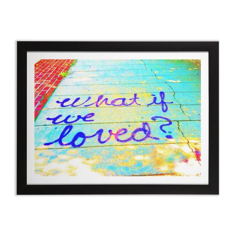 Washington DC What If We Loved? Sidewalk Art in Framed Fine Art Print Black by papertraveler's Artist Shop
