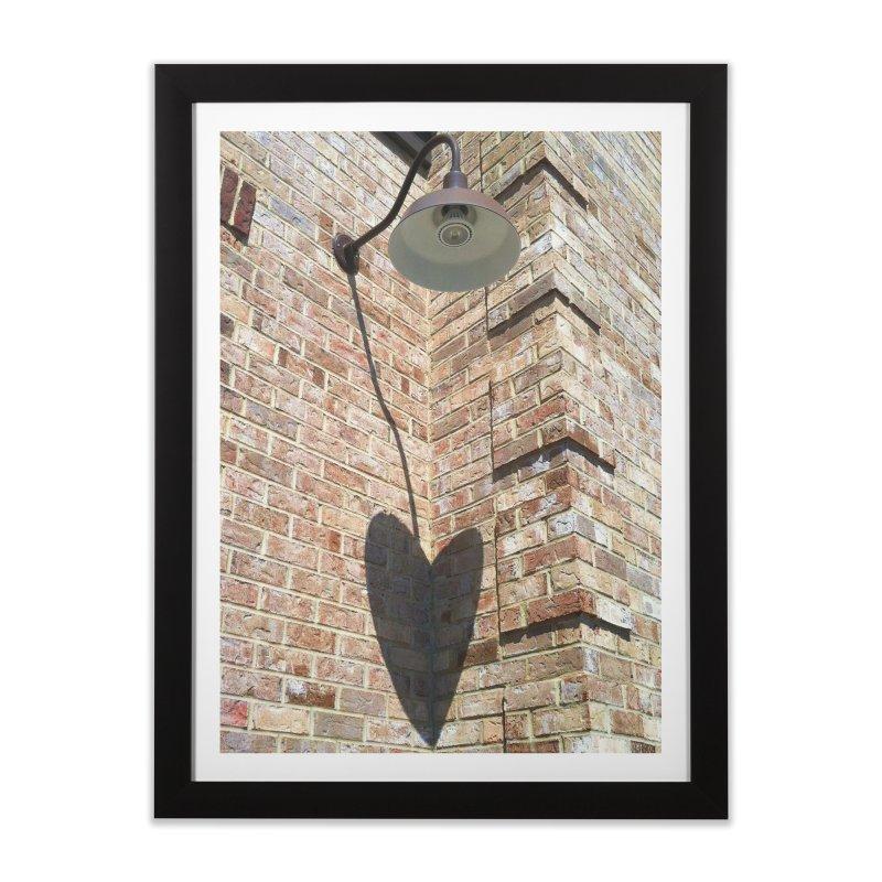Shenandoah Valley Heart on a Brick Wall in Framed Fine Art Print Black by papertraveler's Artist Shop