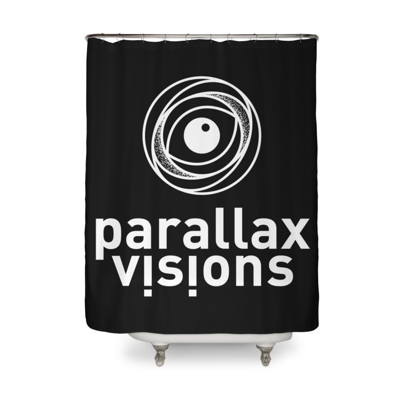 Parallax Visions Logo Home Shower Curtain by [parallax visions]