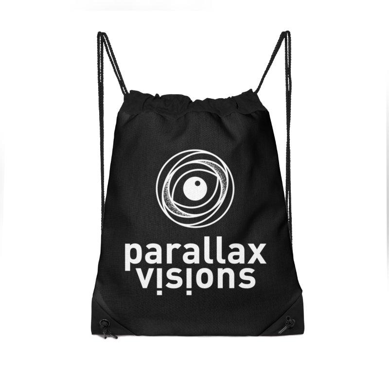 Parallax Visions Logo Accessories Drawstring Bag Bag by [parallax visions]