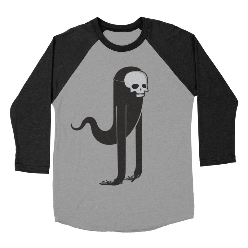 Ghost in Men's Baseball Triblend T-Shirt Heather Onyx Sleeves by parallelish's Artist Shop