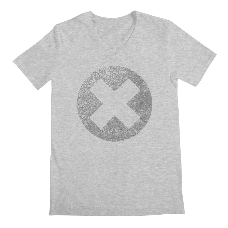 X Men's V-Neck by parallelish's Artist Shop