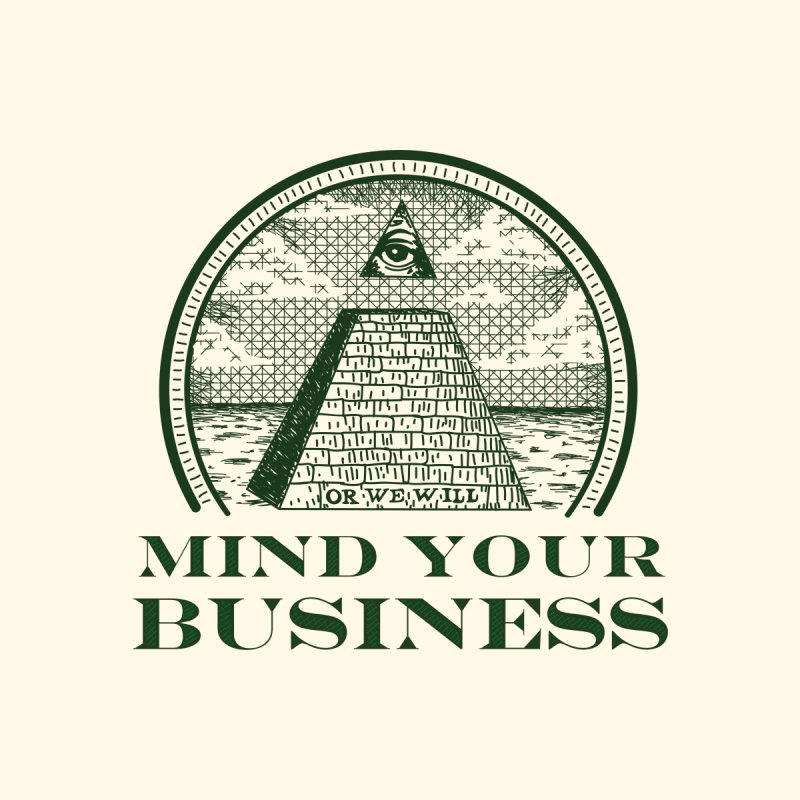 Mind Your Business Men's Baseball Triblend T-Shirt by parallelish's Artist Shop