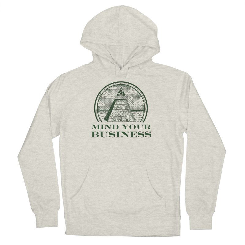 Mind Your Business in Men's Pullover Hoody Heather Oatmeal by parallelish's Artist Shop