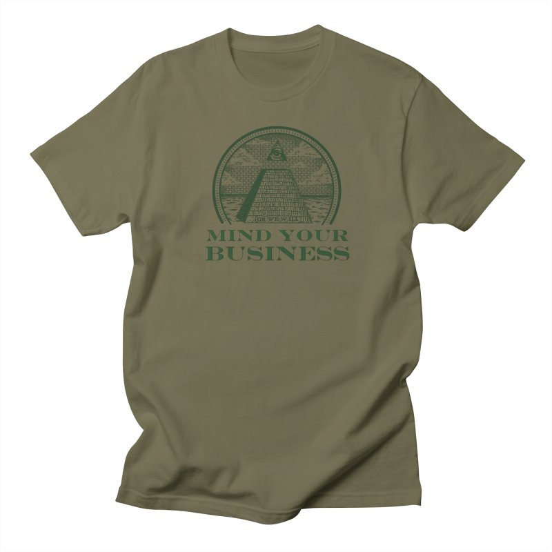 Mind Your Business Men's Regular T-Shirt by parallelish's Artist Shop