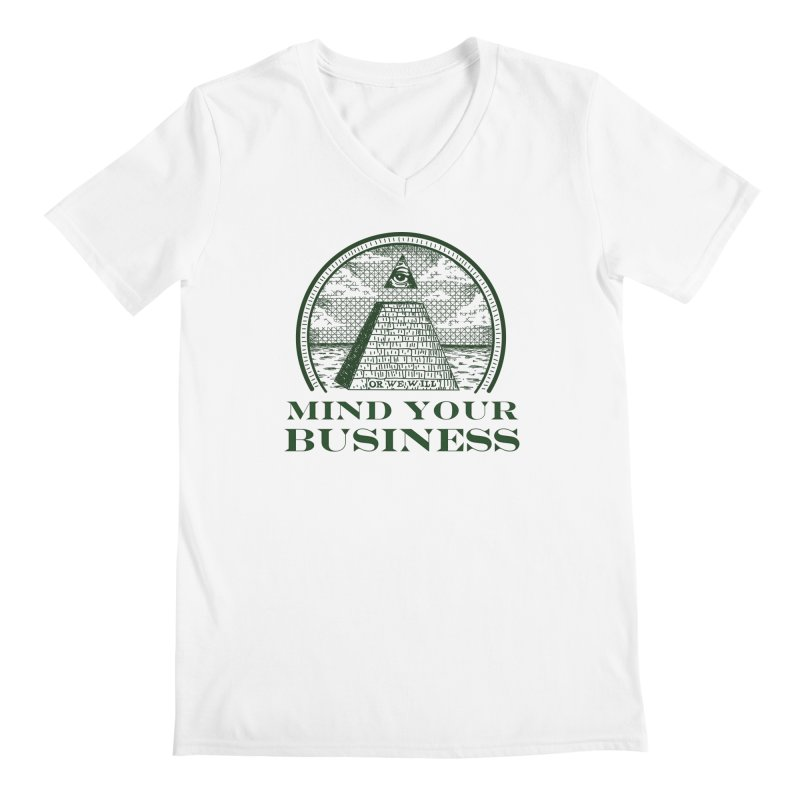 Mind Your Business Men's V-Neck by parallelish's Artist Shop