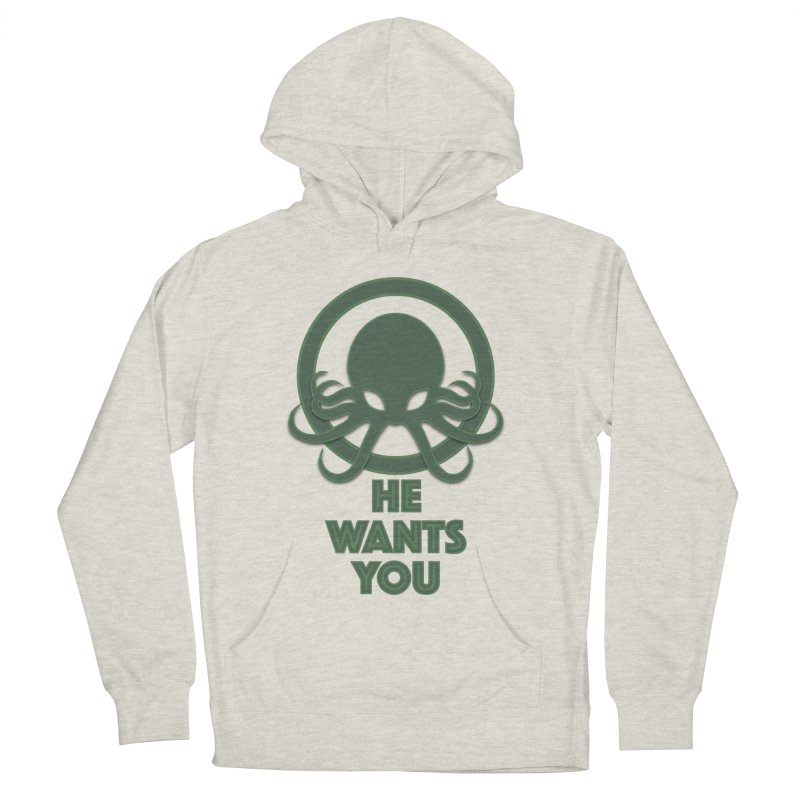 Cthulu wants you Men's Pullover Hoody by Parkaboy Designs