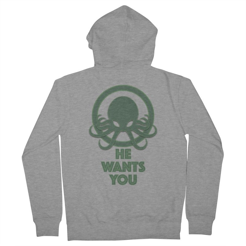 Cthulu wants you Men's Zip-Up Hoody by Parkaboy Designs