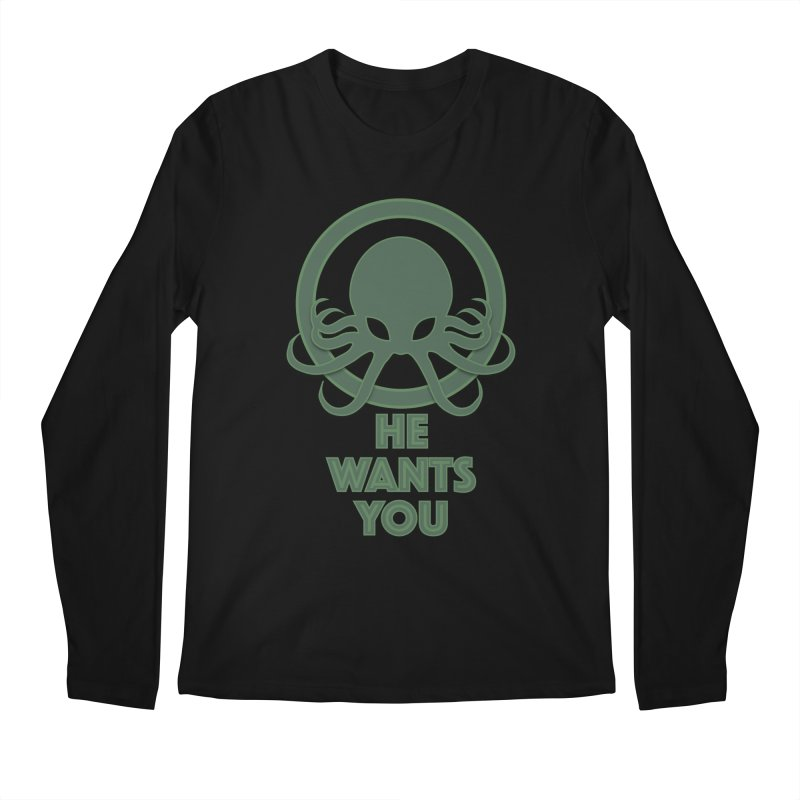Cthulu wants you Men's Longsleeve T-Shirt by Parkaboy Designs
