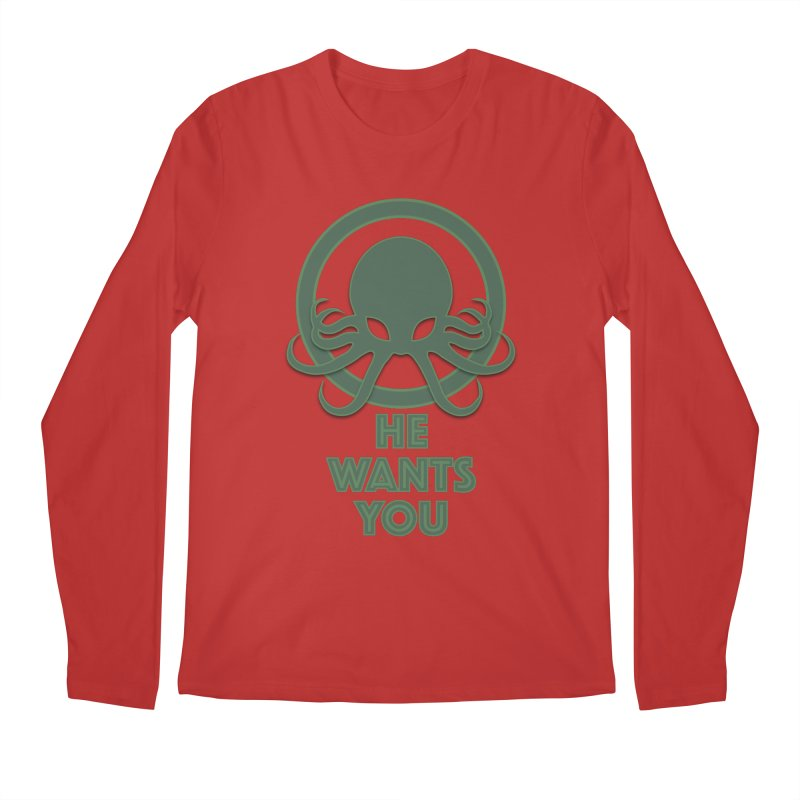 Cthulu wants you Men's Longsleeve T-Shirt by Parkaboy Designs