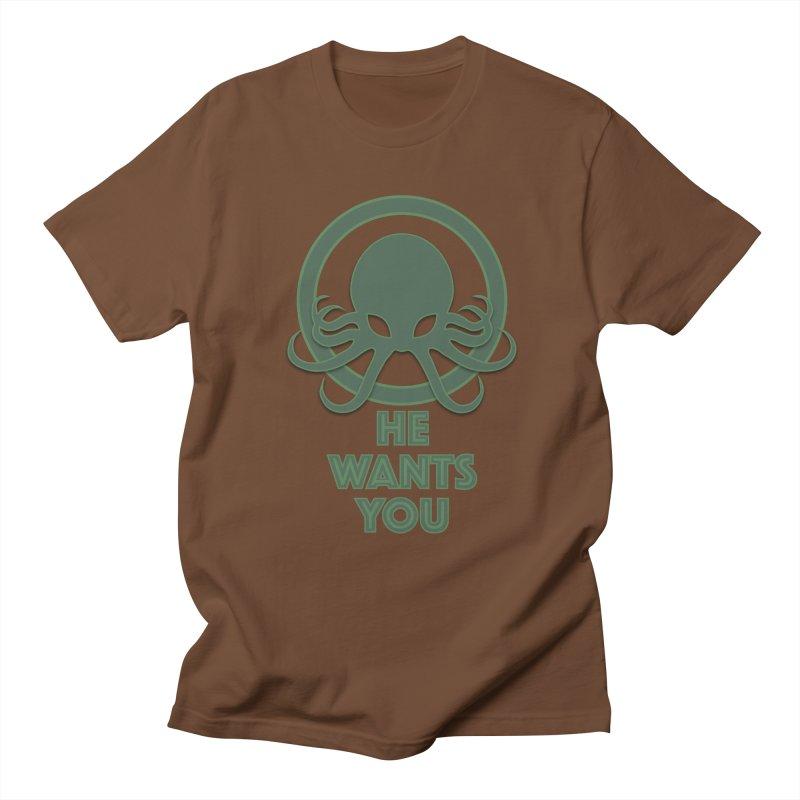 Cthulu wants you Men's Regular T-Shirt by Parkaboy Designs