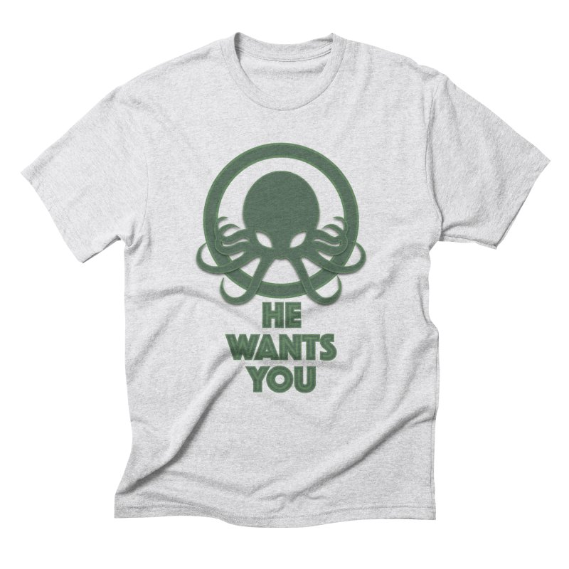 Cthulu wants you Men's Triblend T-Shirt by Parkaboy Designs
