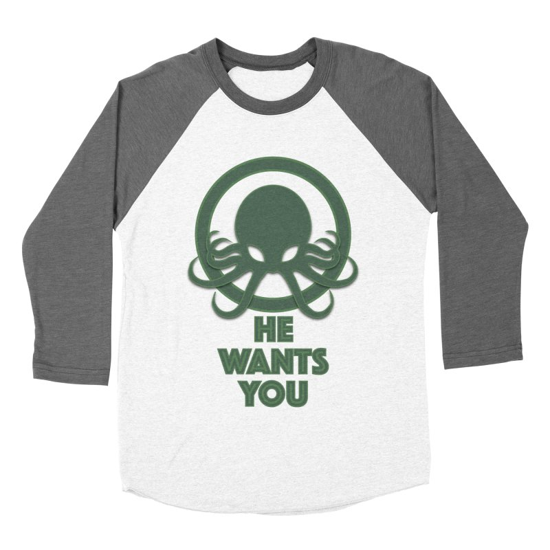 Cthulu wants you Women's Baseball Triblend T-Shirt by Parkaboy Designs