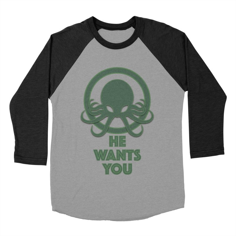 Cthulu wants you Men's Baseball Triblend T-Shirt by Parkaboy Designs