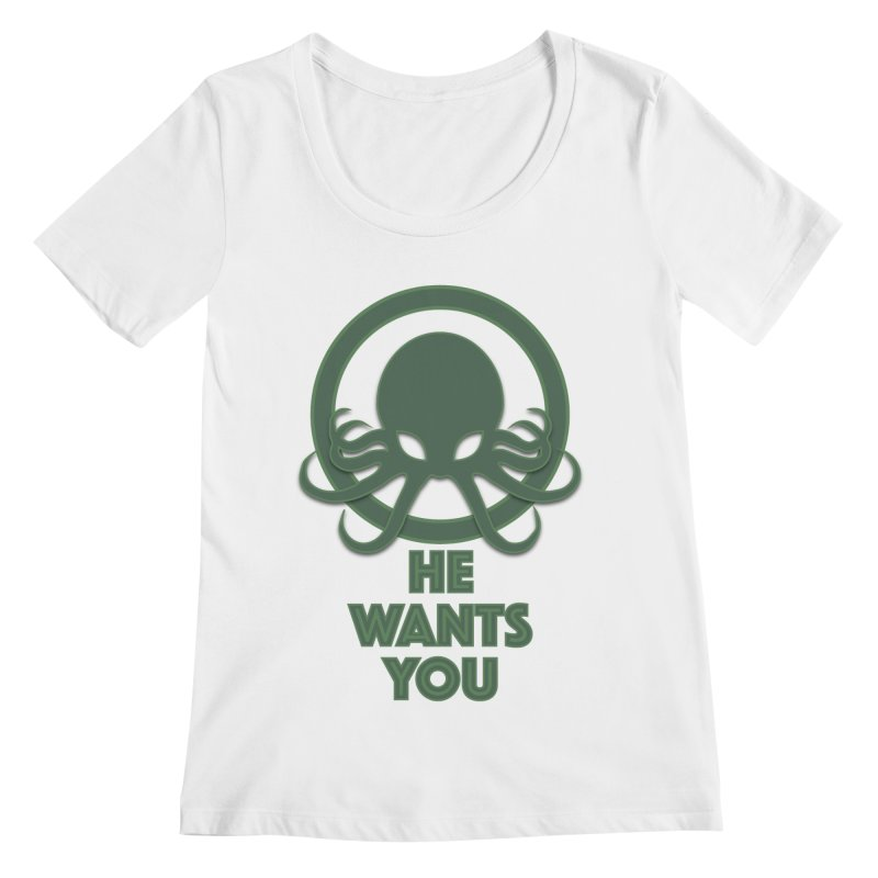 Cthulu wants you Women's Regular Scoop Neck by Parkaboy Designs