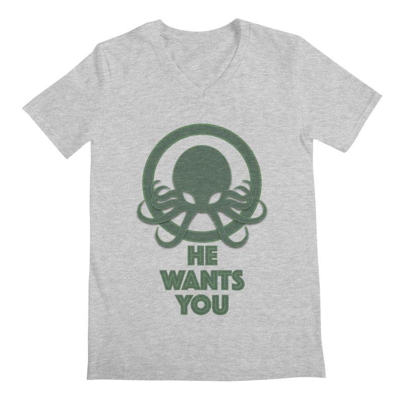 Cthulu wants you Men's V-Neck by Parkaboy Designs