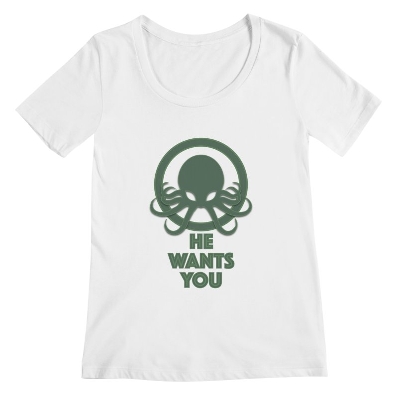 Cthulu wants you Women's Scoopneck by Parkaboy Designs