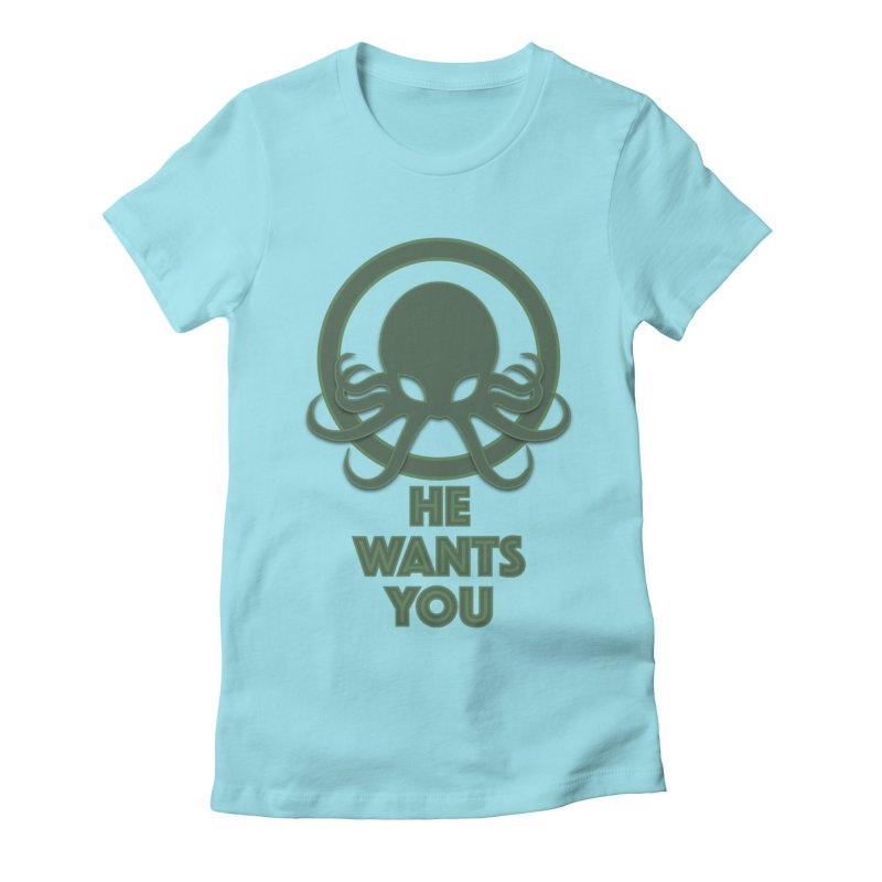 Cthulu wants you Women's Fitted T-Shirt by Parkaboy Designs