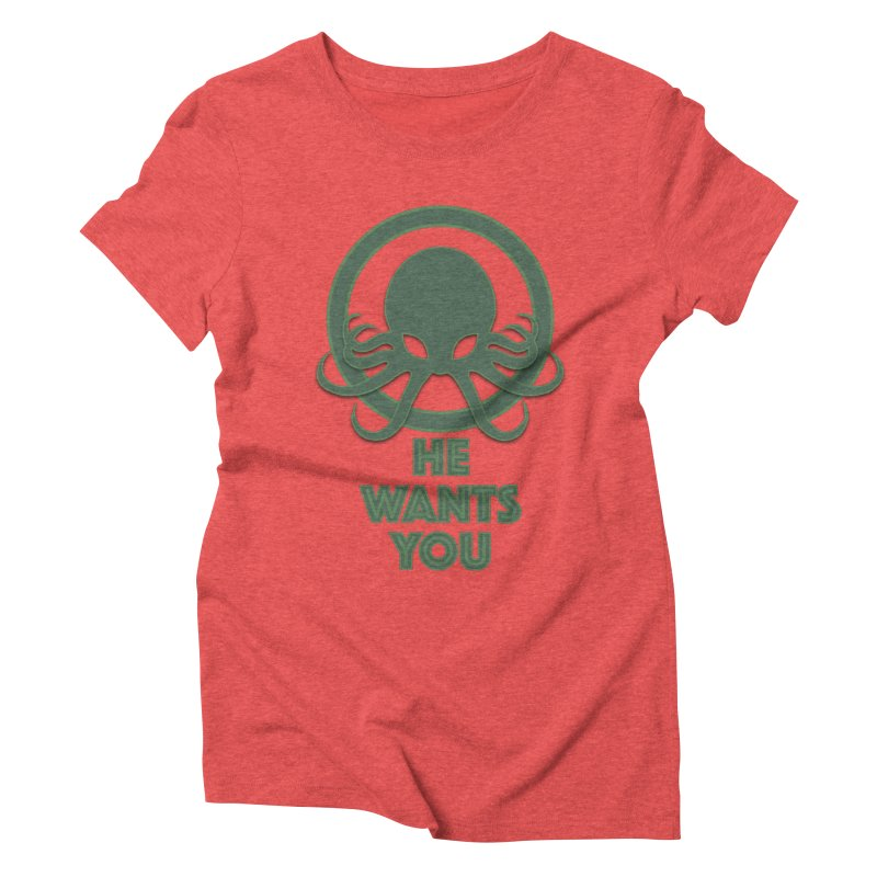 Cthulu wants you Women's Triblend T-shirt by Parkaboy Designs