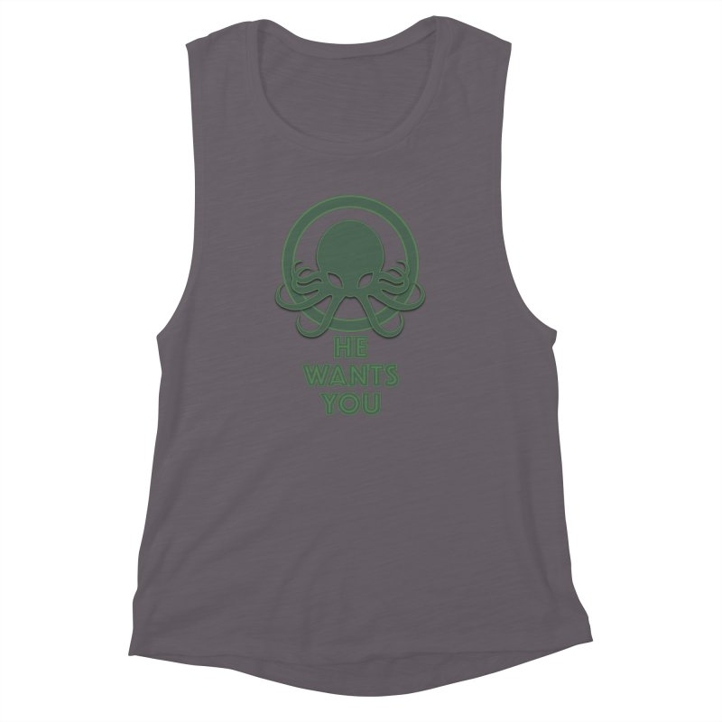 Cthulu wants you Women's Muscle Tank by Parkaboy Designs