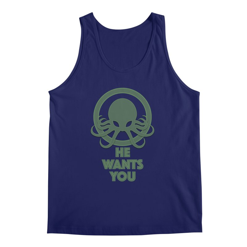 Cthulu wants you Men's Tank by Parkaboy Designs