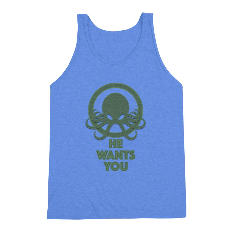 Cthulu wants you Men's Triblend Tank by Parkaboy Designs