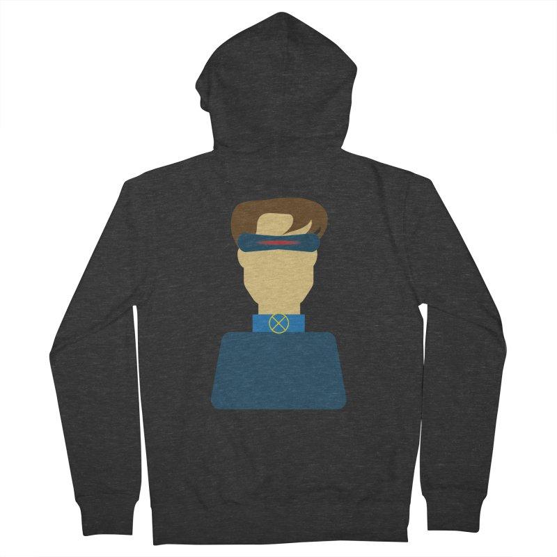 One-eyed hero Men's Zip-Up Hoody by Parkaboy Designs