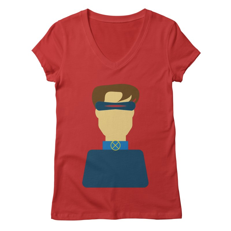 One-eyed hero Women's V-Neck by Parkaboy Designs